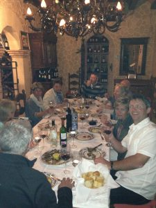 Dinner at local restaurant Spain